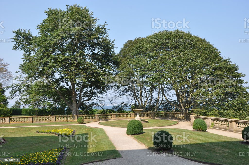 The Breakers Mansion in Newport, Rhode Island stock photo