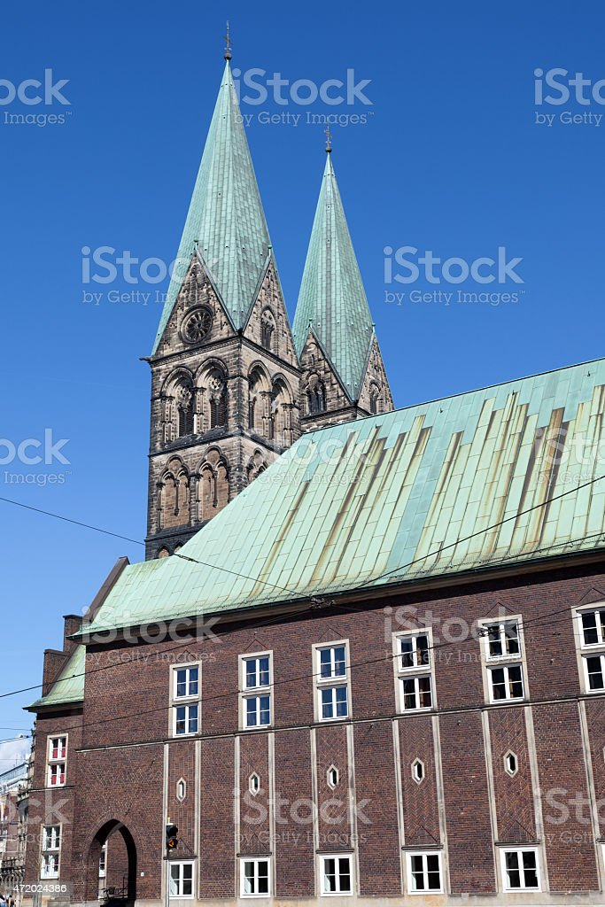 The Bremen Cathedral stock photo