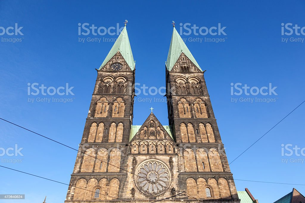 The Bremer Dom Cathedral stock photo