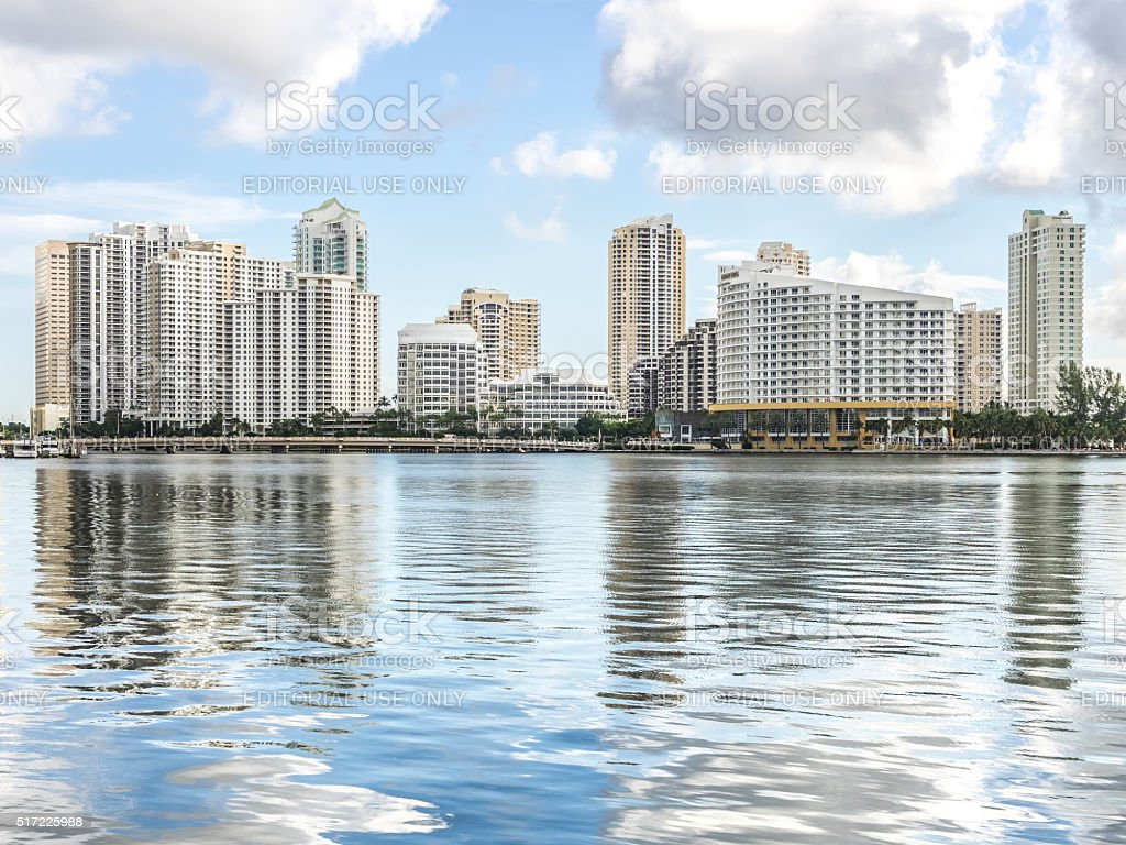 The Brickell Key stock photo