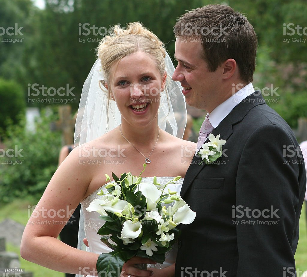 The Bride and Groom 3 royalty-free stock photo