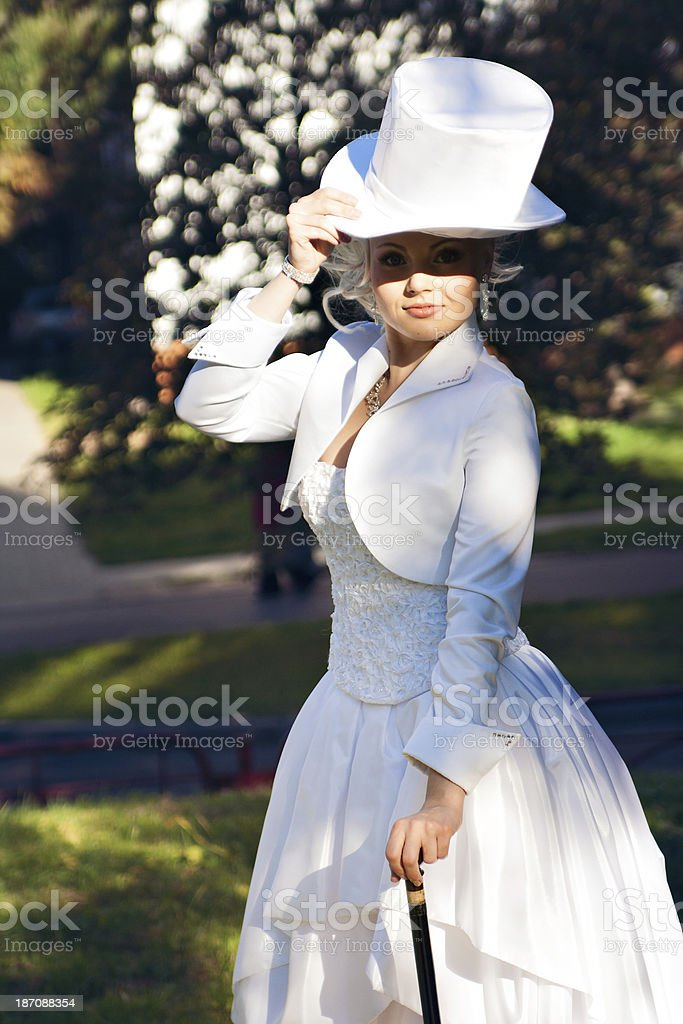 The bride blonde royalty-free stock photo