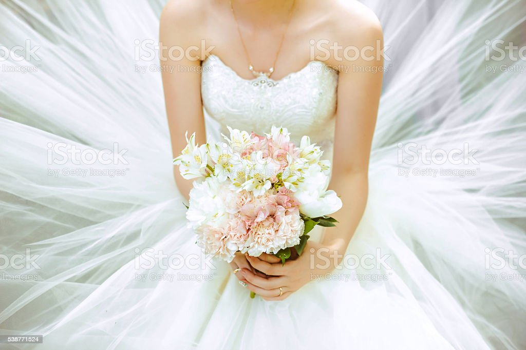 The bride's bouquet stock photo