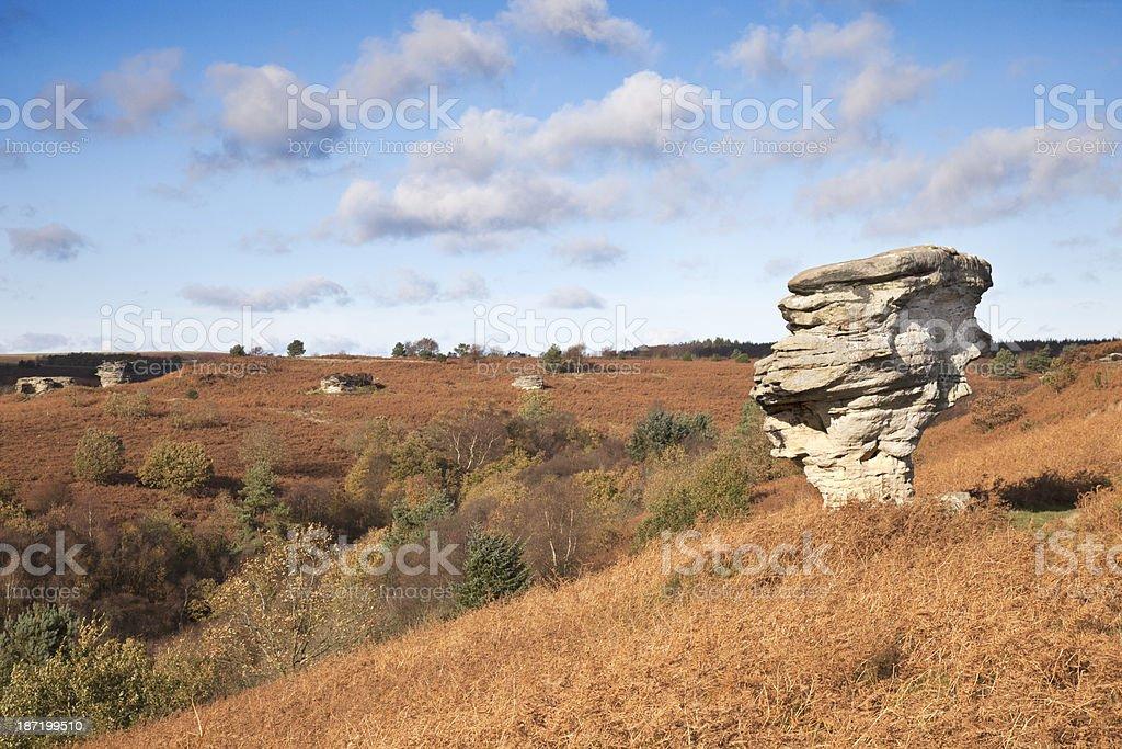 The Bridestones, North York Moors National Park royalty-free stock photo