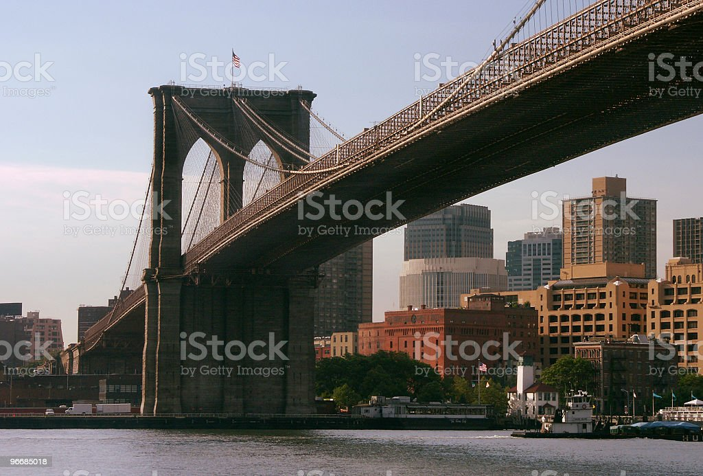 The bridge and the city royalty-free stock photo
