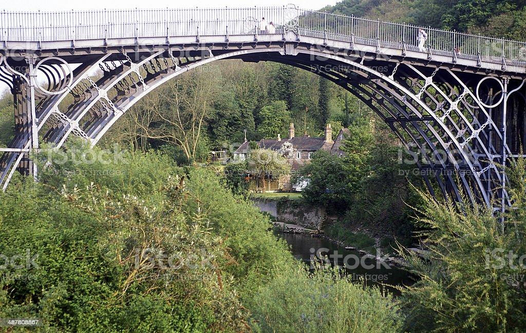 The bridge at Ironbridge stock photo