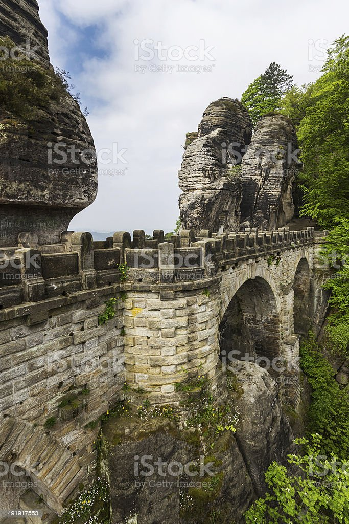 The bridge Bastei stock photo