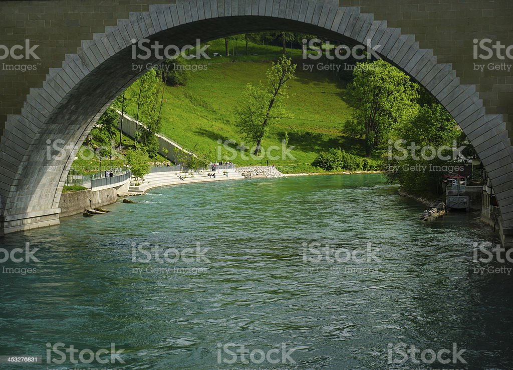 The bridge in Bern royalty-free stock photo