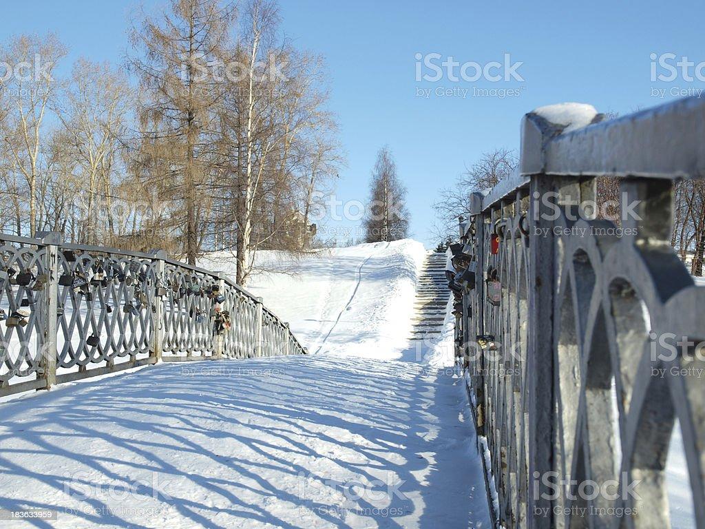 The bridge in park royalty-free stock photo