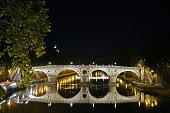 The bridge in the night