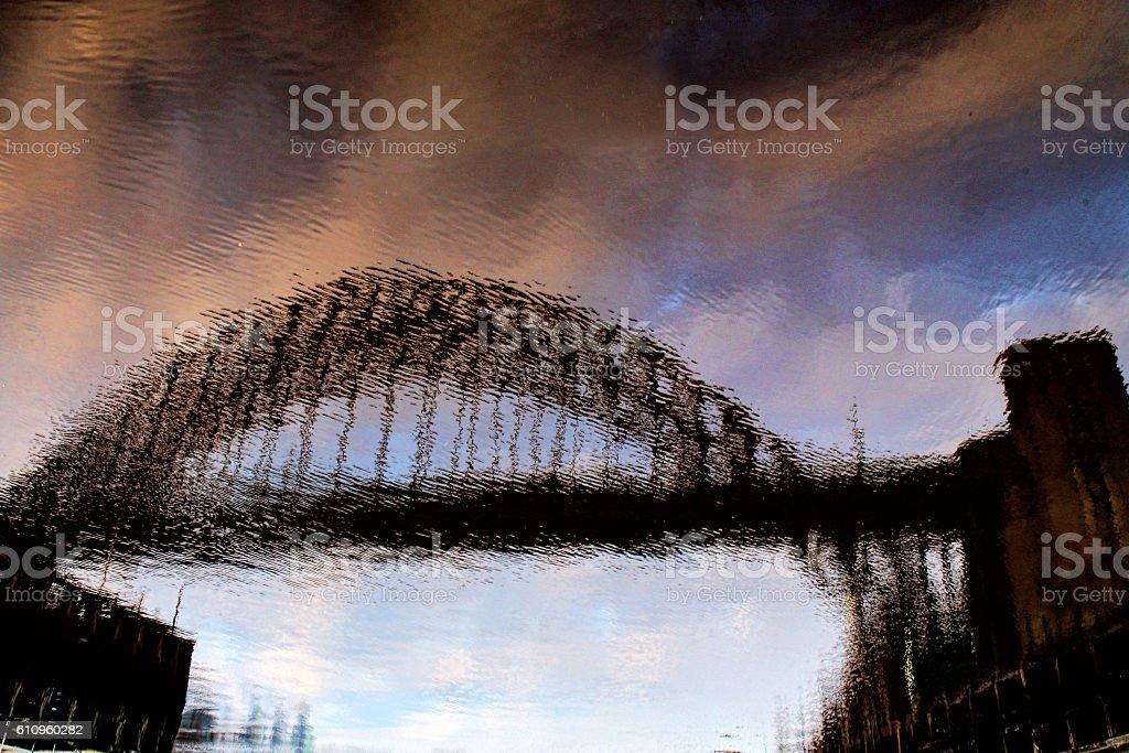 The bridge in the river stock photo