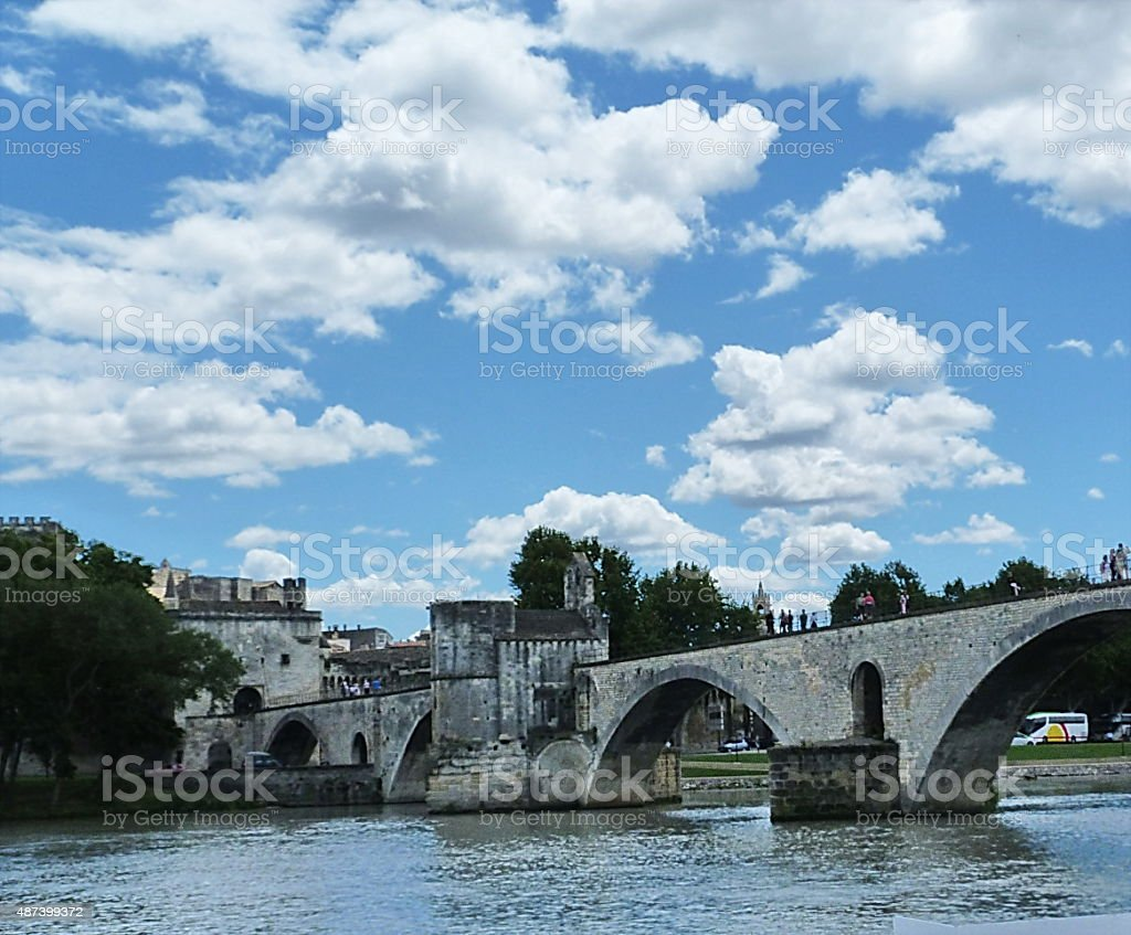 The bridge of Avignon, France stock photo