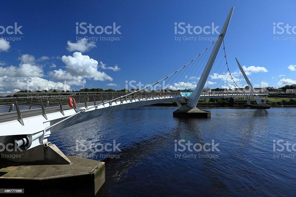 Die Br?cke von Derry ?ber den River Foyle stock photo