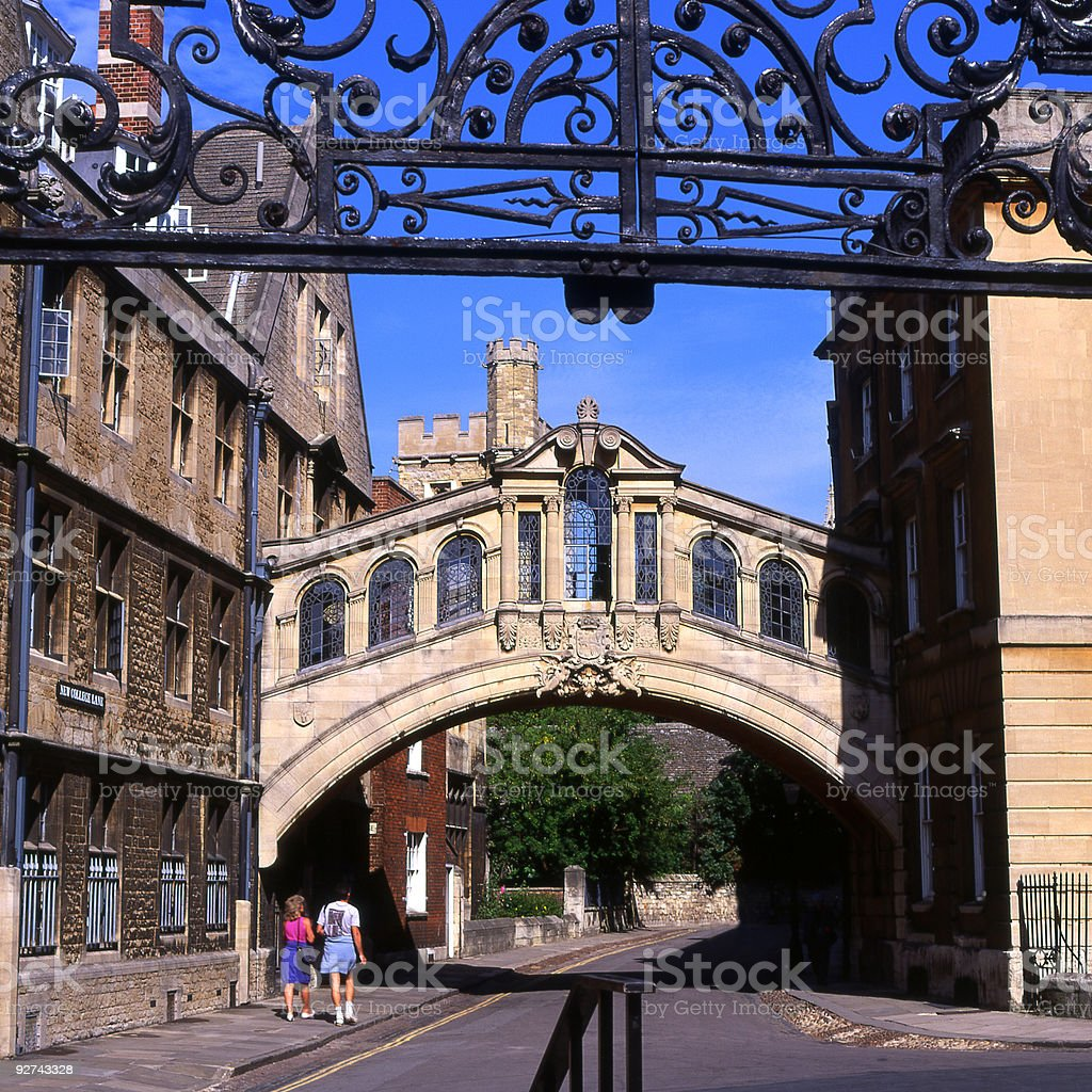 The Bridge of Sighs at Hertford College. Oxford. England royalty-free stock photo
