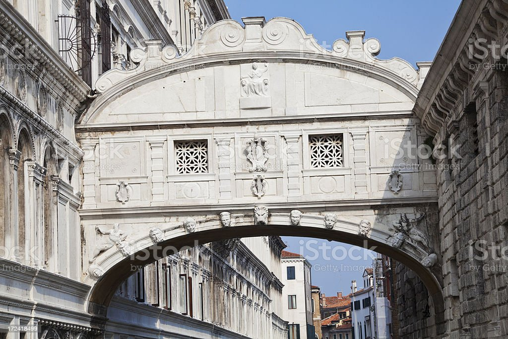 The Bridge of Sighs, Venice royalty-free stock photo