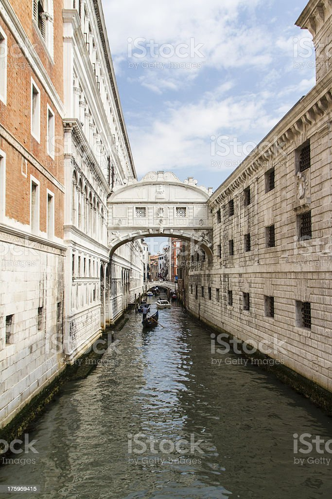 The bridge of sighs - Venice royalty-free stock photo
