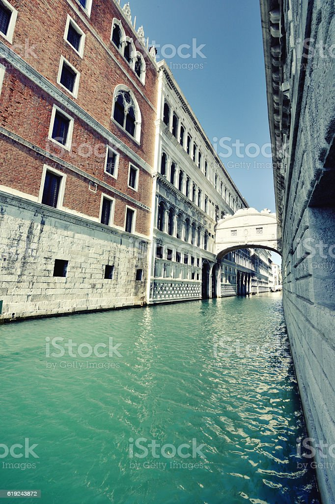 The Bridge of Sighs, Venice stock photo