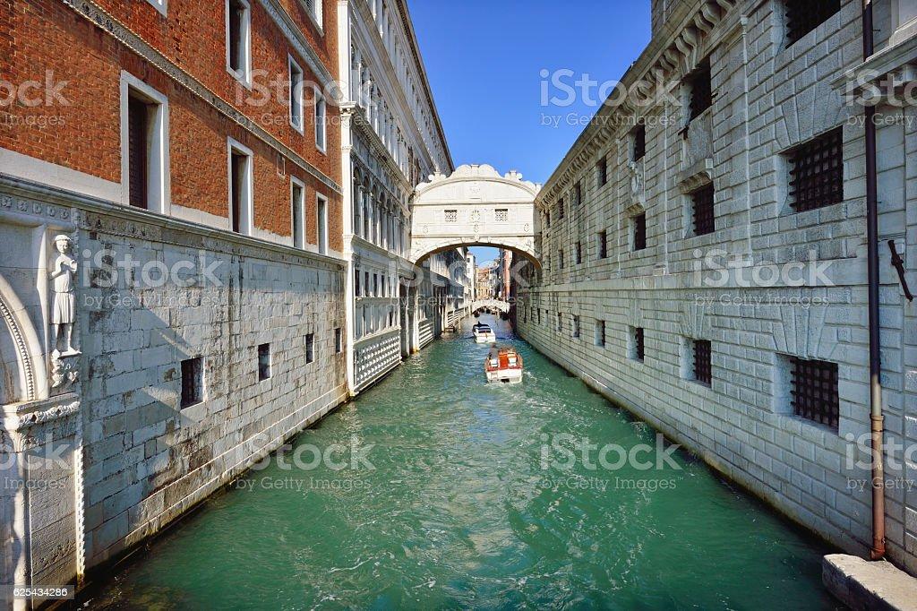 The Bridge of Sighs, Venice stock photo