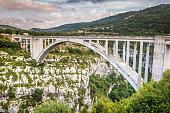 The bridge of the Artuby River, Verdon Gorge, France