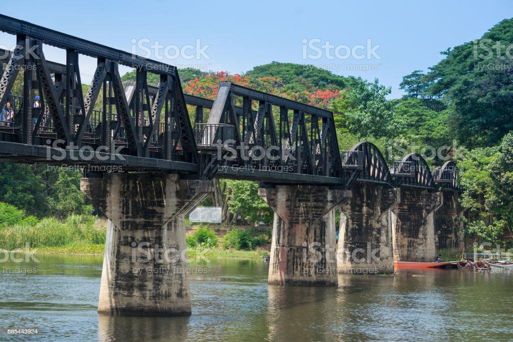 The Bridge of the River Kwai, Kanchanaburi, Thailand stock photo
