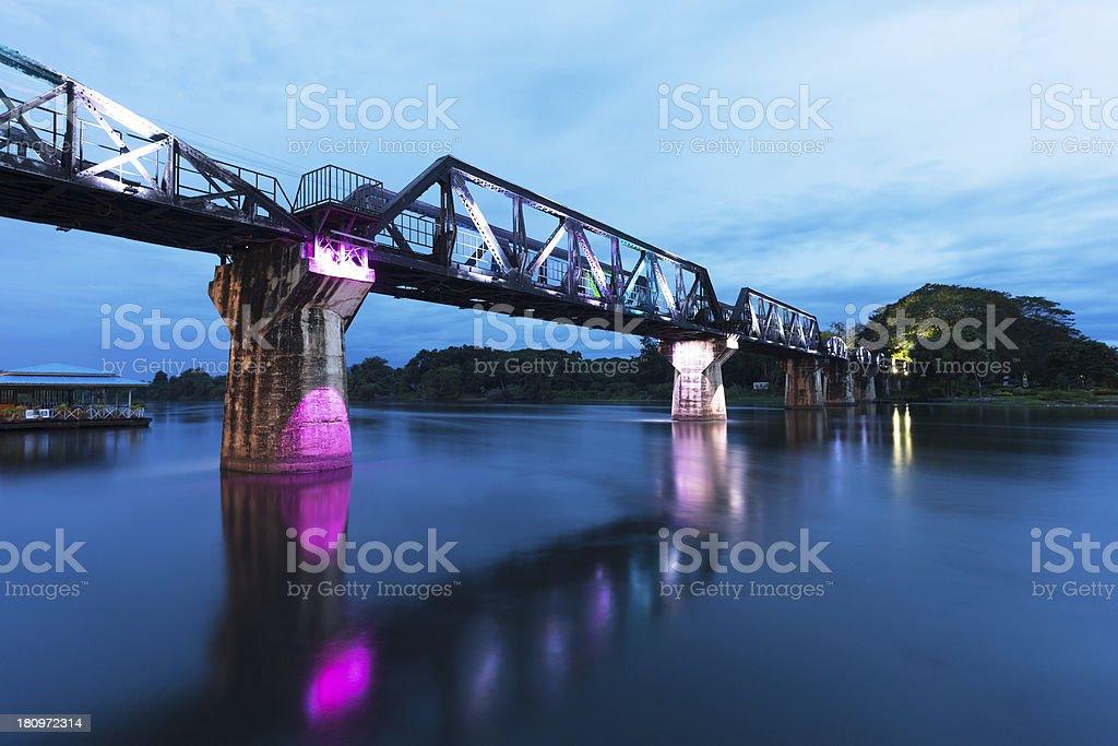The Bridge on River Kwai stock photo