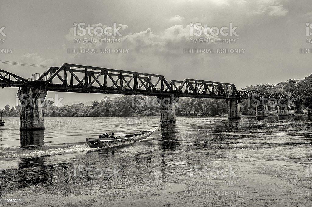 The Bridge on the River Kwai stock photo