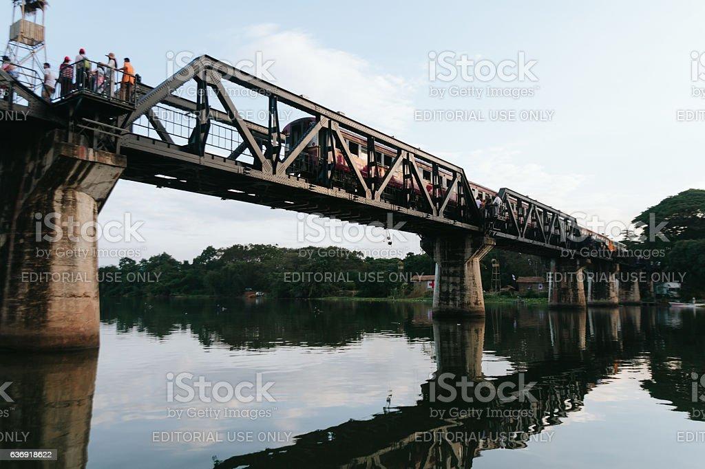 The Bridge on the River. stock photo