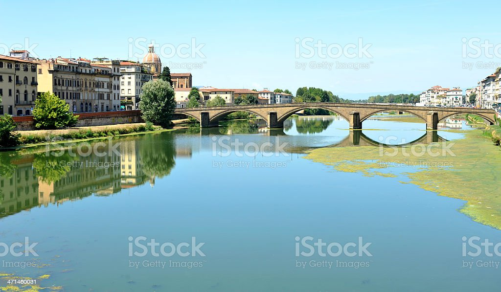 The bridge 'Ponte alla Carraia' - Florence stock photo
