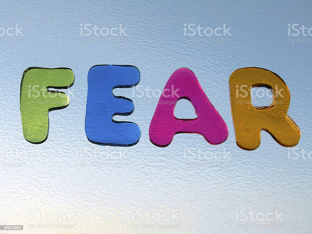 The brighter side of 'fear' royalty-free stock photo