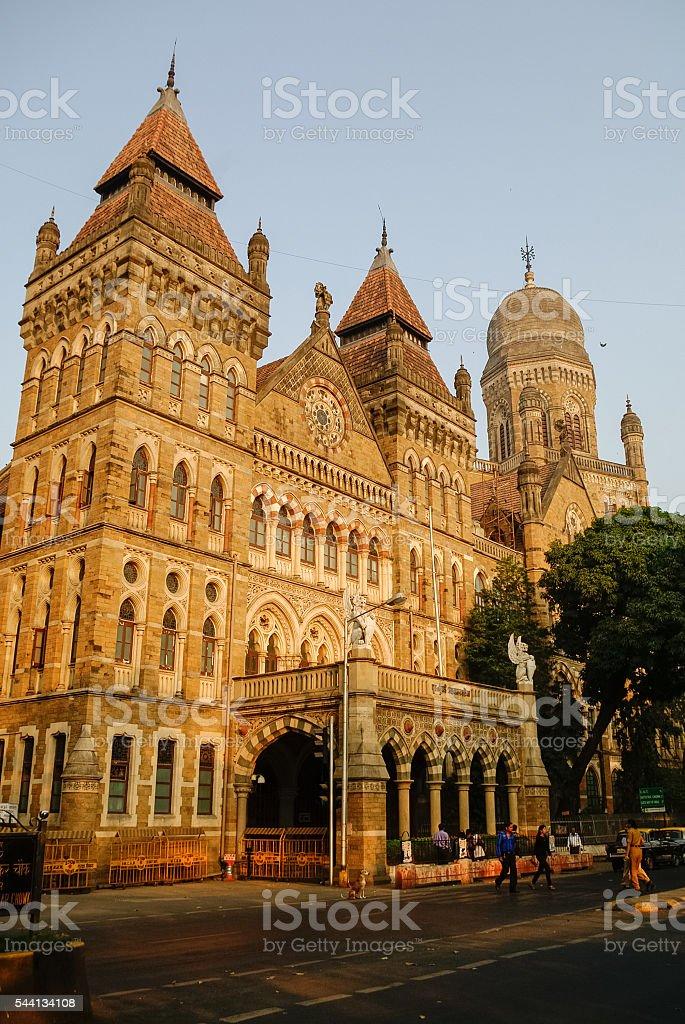 The Brihanmumbai Municipal Corporation (BMC) Building, Mumbai stock photo