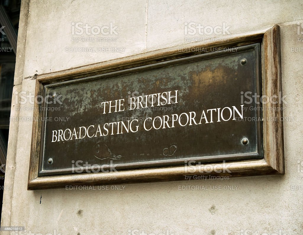 The British Broadcasting Corporation - sign stock photo