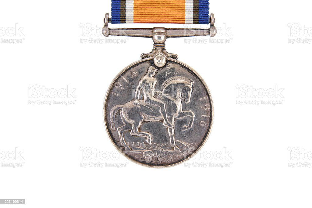 The British War Medal, 1914-18 with ribbon stock photo