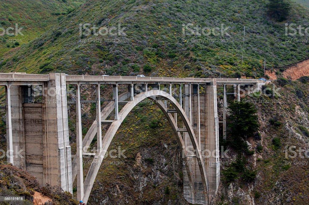 The Brixby Creek Bridge stock photo