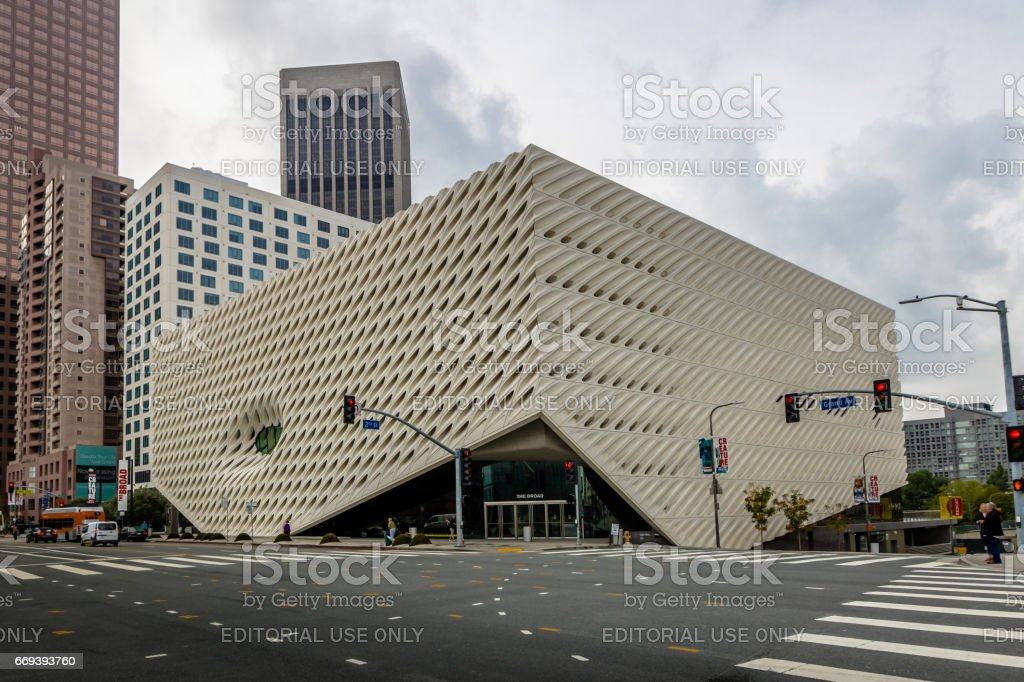 The Broad contemporary art museum - Los Angeles, California, USA stock photo