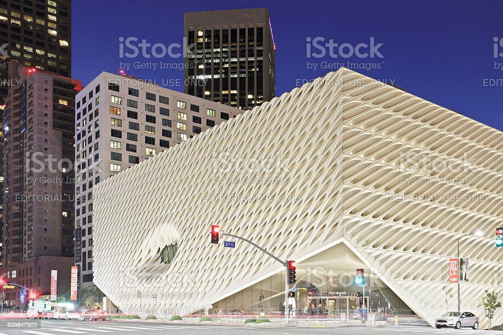 The Broad - Grand Avenue - Los Angeles stock photo