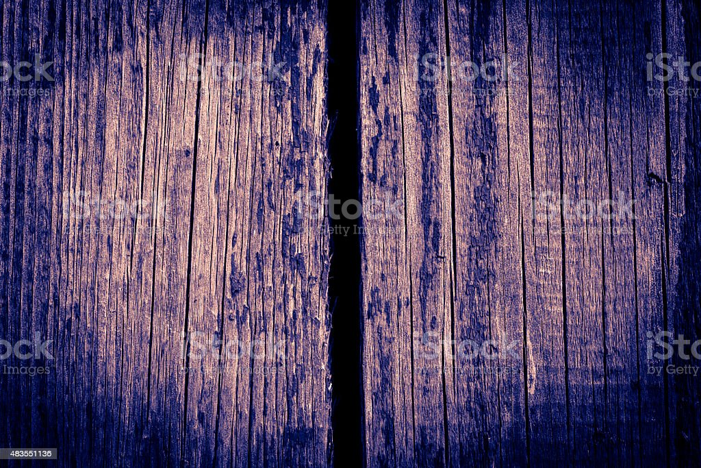 The broken wooden wall stock photo