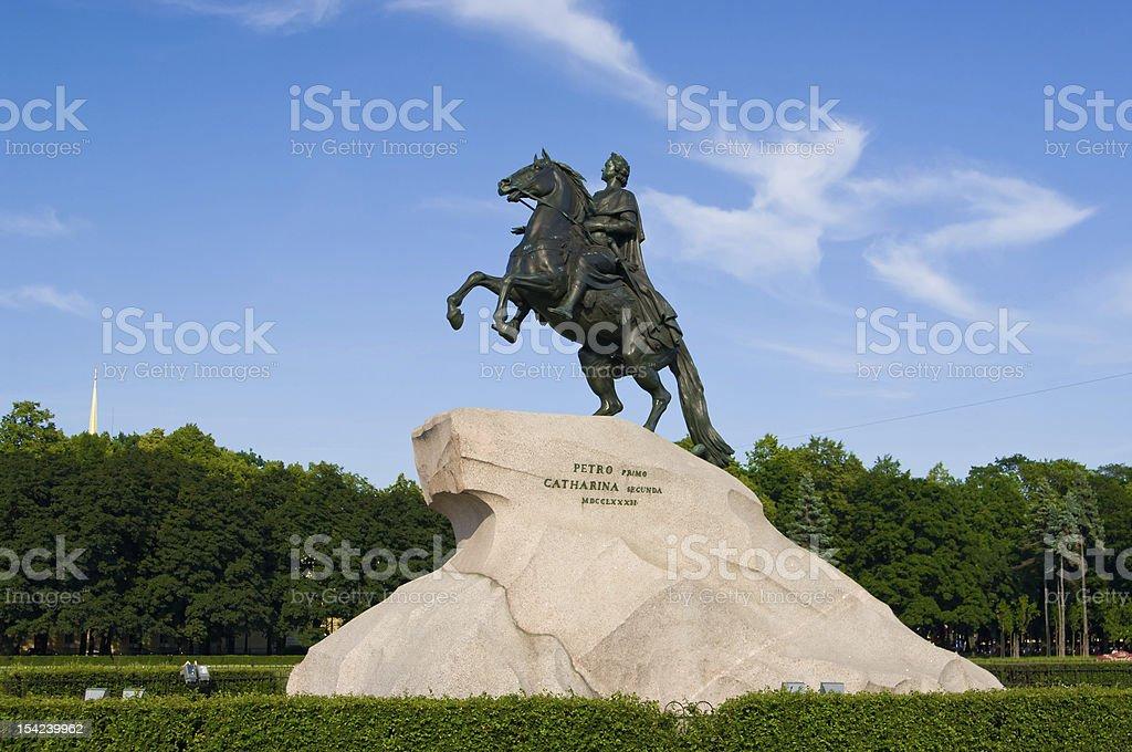 The Bronze Horseman royalty-free stock photo