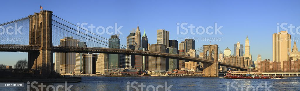 The Brooklyn Bridge in New York City royalty-free stock photo