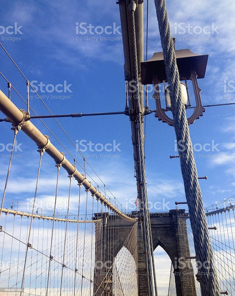 The Brooklyn Bridge in New York City royalty-free stock photo