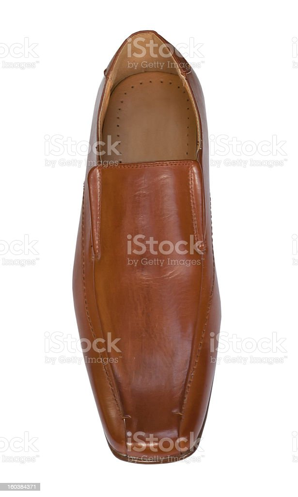 The brown man's shoes . royalty-free stock photo