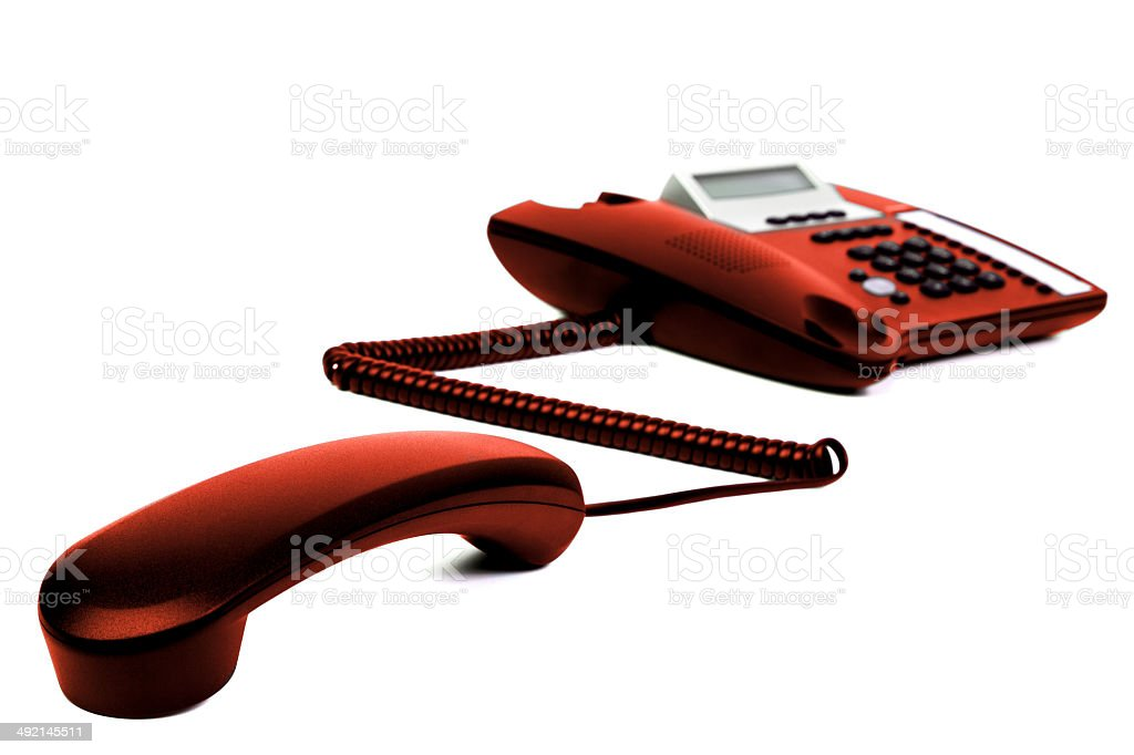 The Brown  Telephone royalty-free stock photo