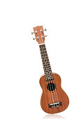 The brown ukulele, clipping path