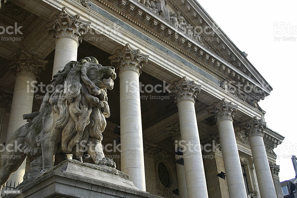 The Brussels Stock Exchange in New York stock photo