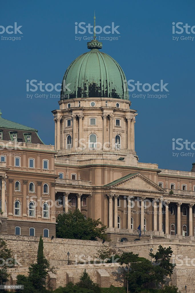 The Buda Castle stock photo