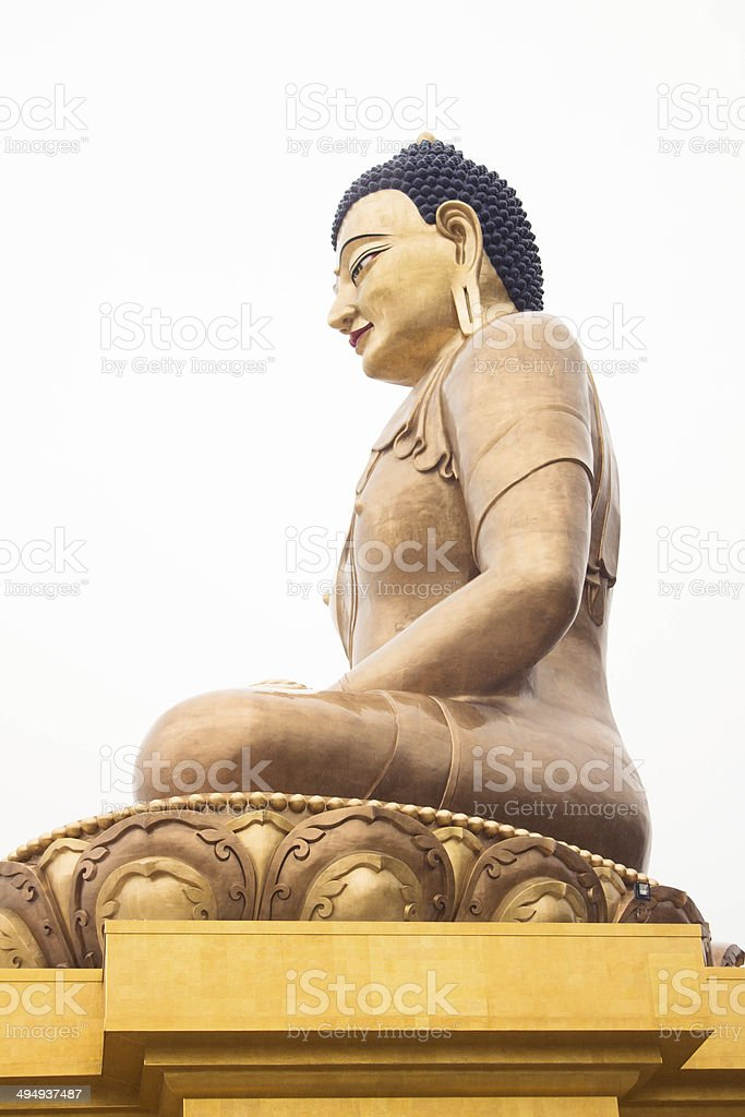 The Buddha in lotus position stock photo