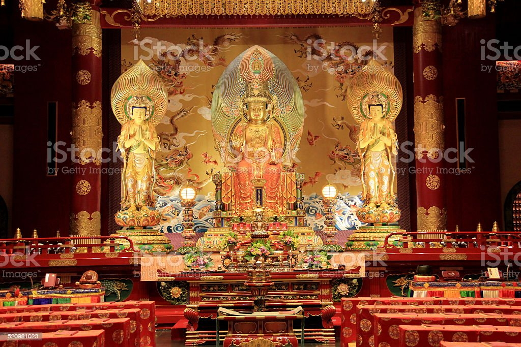The Buddha Tooth Relic Temple and Museum, Singapore stock photo