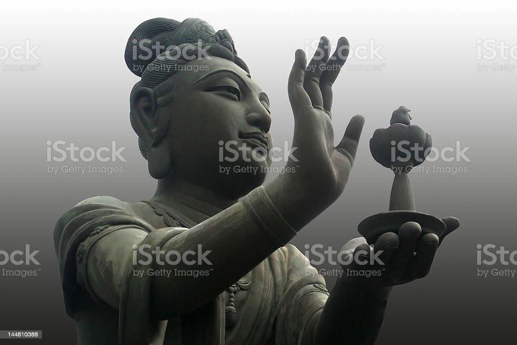 The buddha worshiper stock photo
