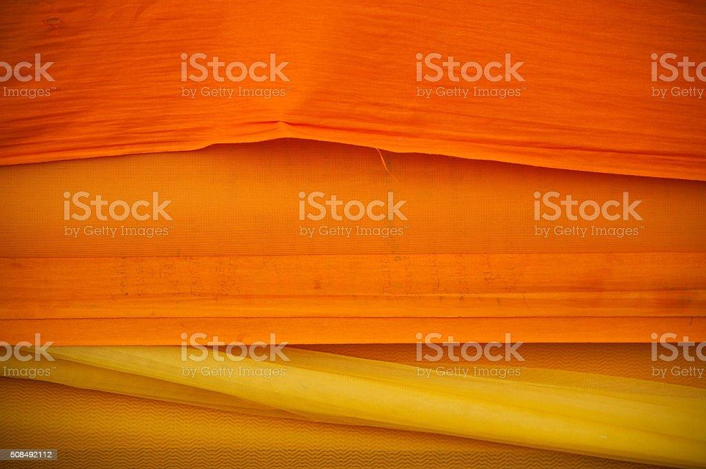 The Buddhist monk's robe stock photo