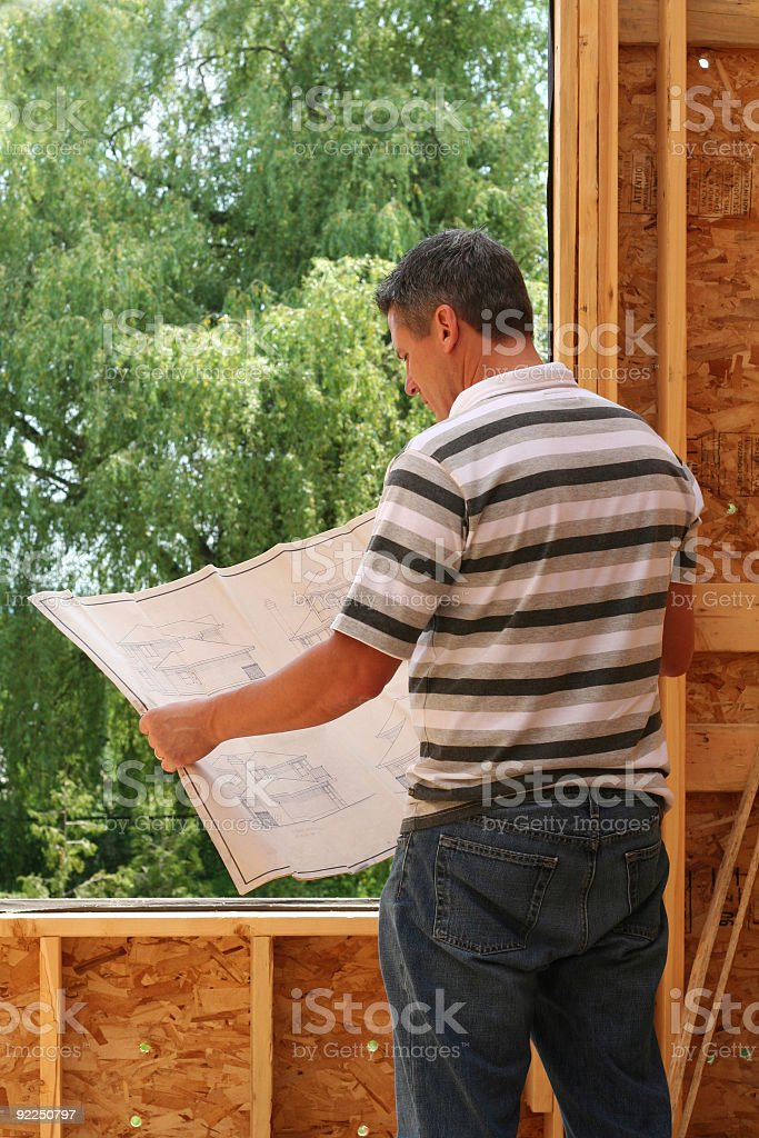 The builder royalty-free stock photo
