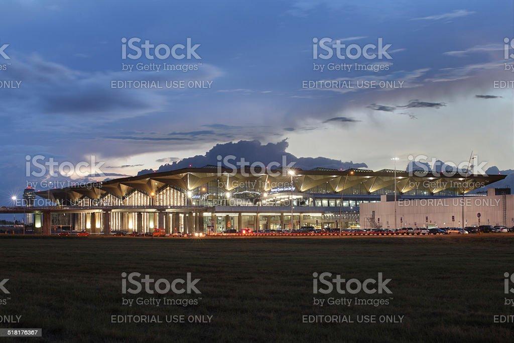 The building new passenger terminal Pulkovo Airport, Saint Petersburg, Russia. stock photo